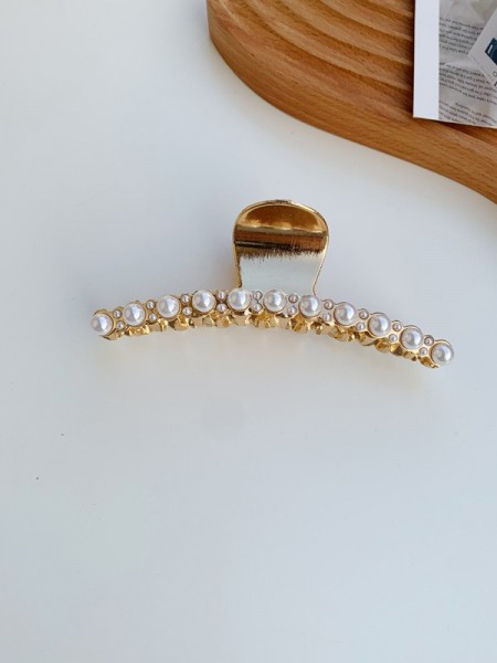 Fancy Alloy With Imitation Pearl Hair Claw