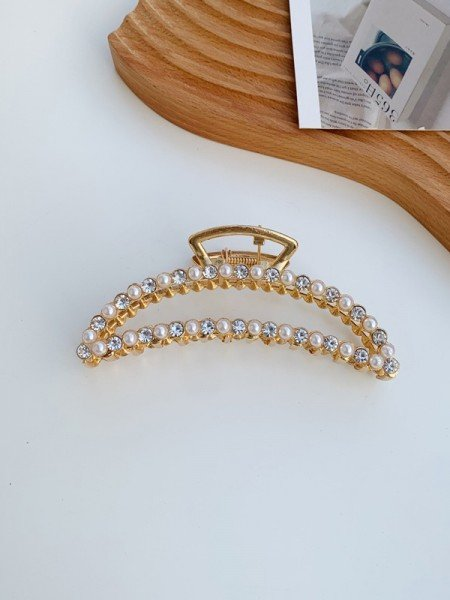 Cute Alloy With Imitation Pearl Hair Claw