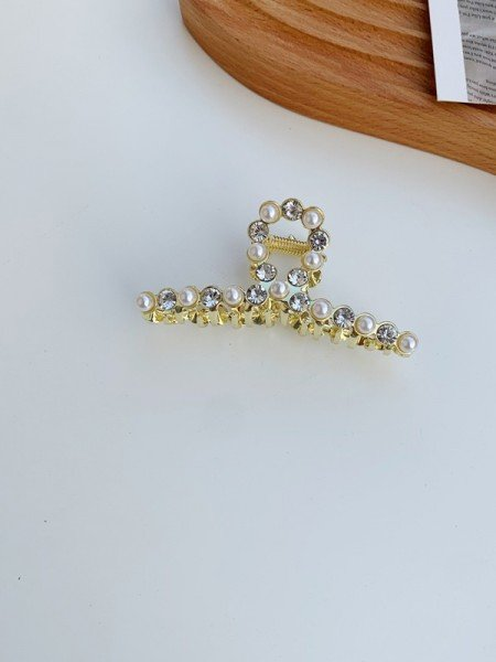 Lovely Alloy With Imitation Pearl Hair Claw
