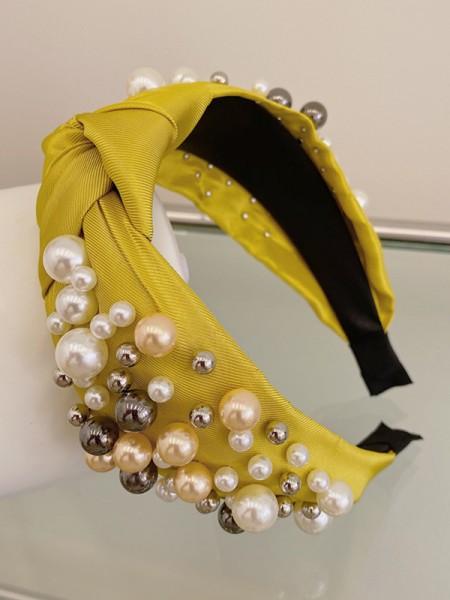 Amazing Cloth With Imitation Pearl Headbands