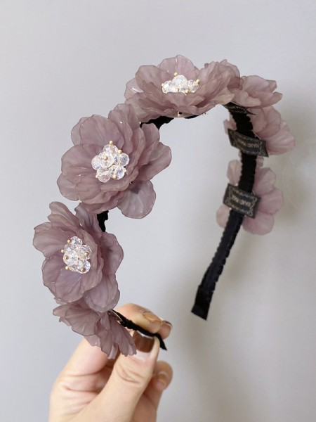 Unique Plastic With Hand-Made Flower Headbands