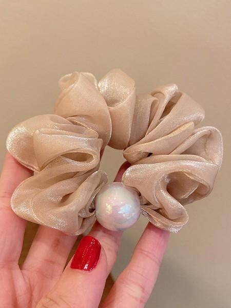 Unique Cloth With Imitation Pearl Hair Tie