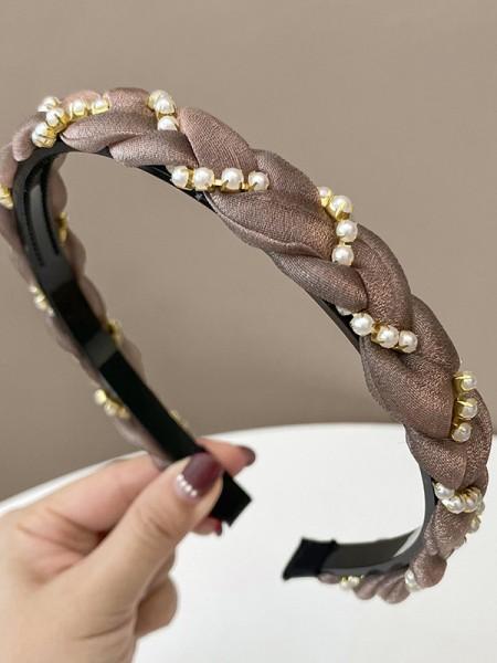 Elegant Cloth With Imitation Pearl Headbands