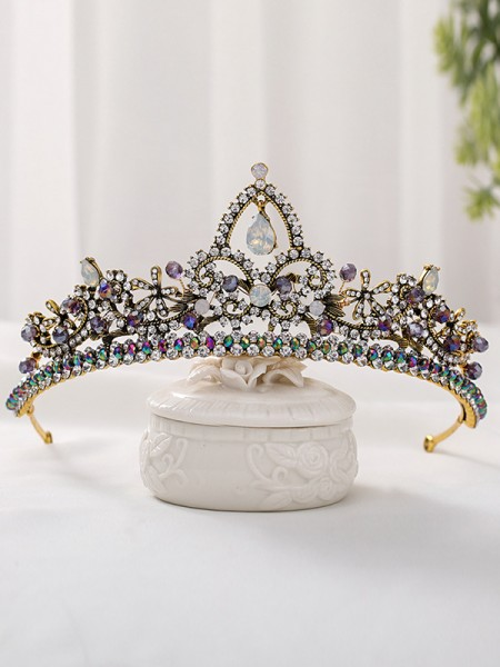 Glamorous Alloy With Rhinestone Headpieces