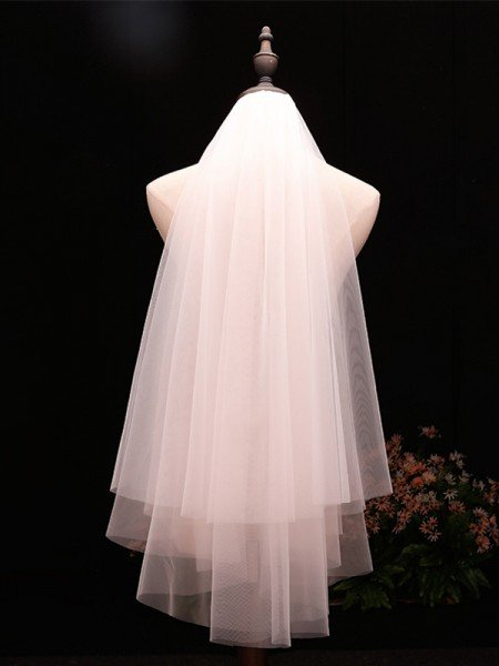 Unique 2 Layer Tulle Wedding Veils