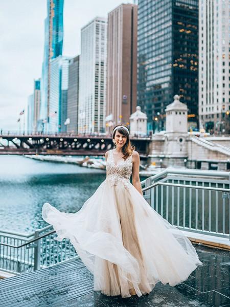 A-Line/Princess Beading Floor-Length Tulle Sleeveless V-neck Dresses