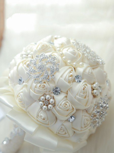 Luxurious Round Artificial Flower Bridal Bouquets