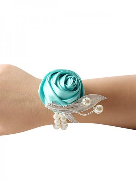 Elegant Hand-tied Cloth Wrist Corsage