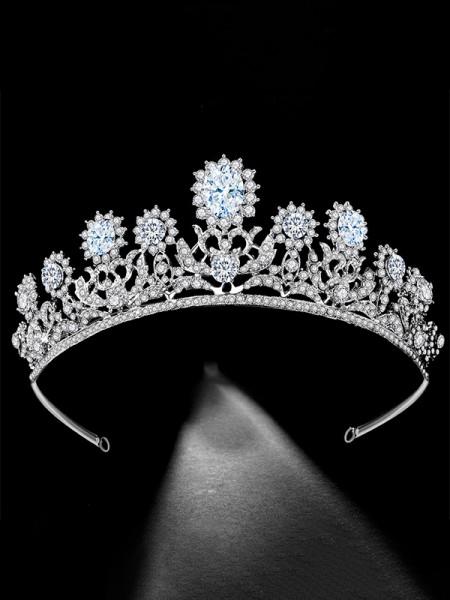 Luxurious With Rhinestone Bridal Headpieces