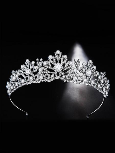 Glamorous Bridal With Rhinestone Alloy Headpieces