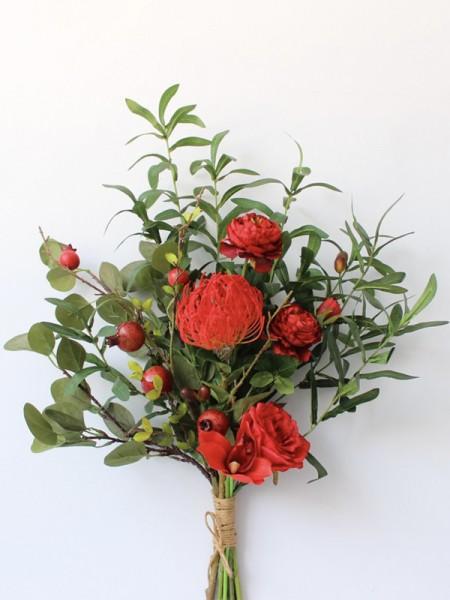 Pretty Free-Form Silk Flower Bridal Bouquets