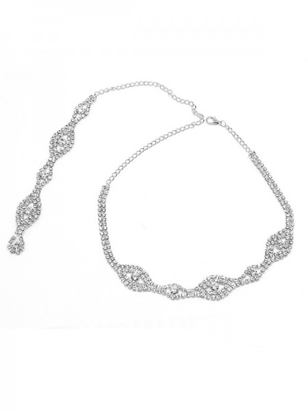 Elegant Crystal Necklaces For Wedding Bridal