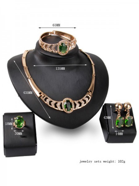 Luxurious Alloy Women's Hot Sale Jewelry Set