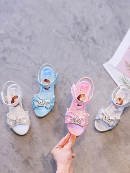 Girl's Microfiber Leather Low Heel With Rhinestone Peep Toe Flower Girl Shoes