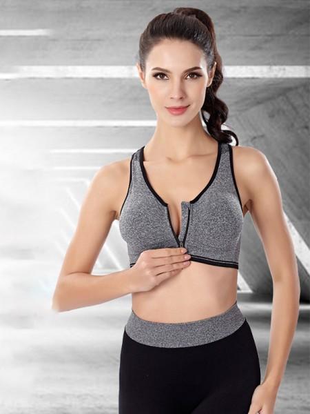 Comfy Sport Nylon Zipper Bras