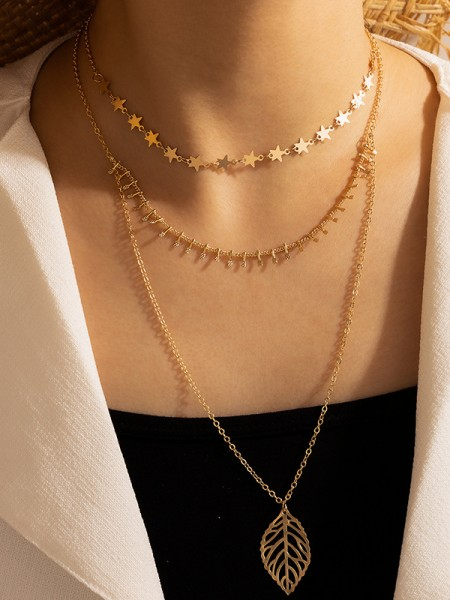 Chic Alloy With Leaf Hot Sale Necklaces