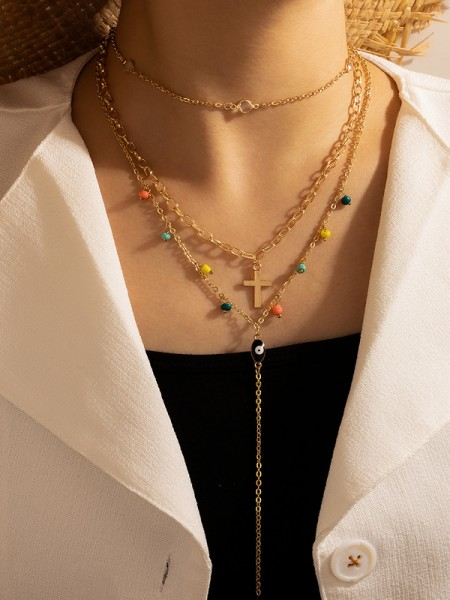 Beautiful Alloy With Beads Necklaces For Ladies