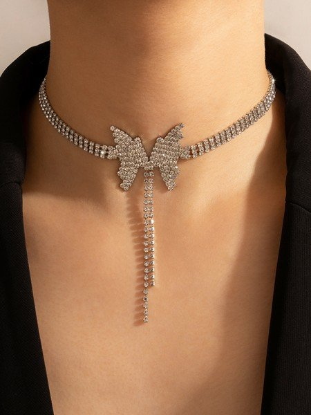 Luxurious Alloy With Rhinestone Necklaces For Ladies