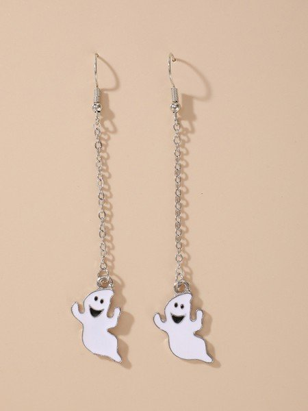 Halloween Brilliant Alloy With Ghost Earrings