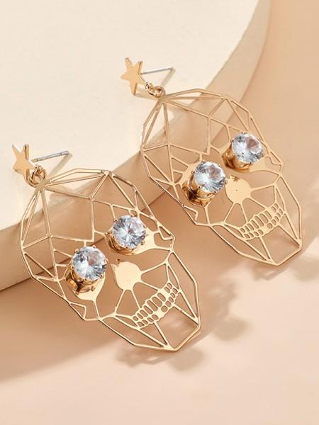 Halloween Fashion Alloy With Rhinestone Earrings