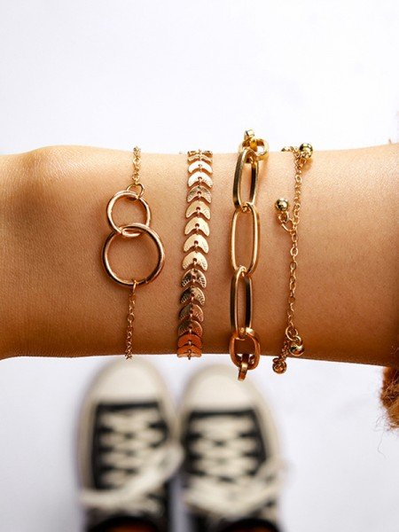Splendid Alloy Bracelets(4 Pieces)