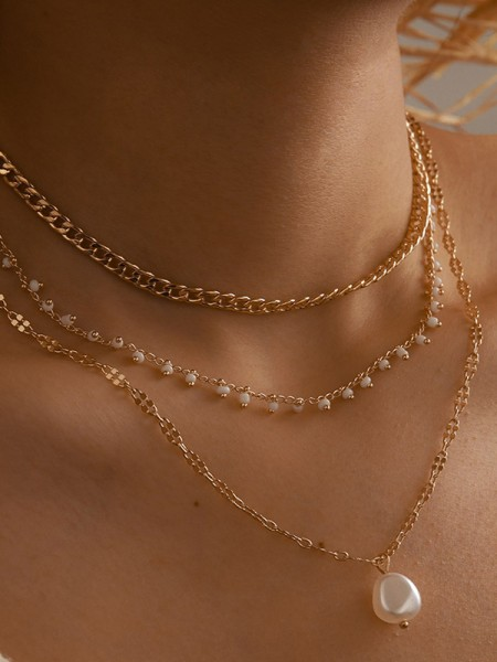 Awesome Alloy With Imitation Pearl Necklaces For Women