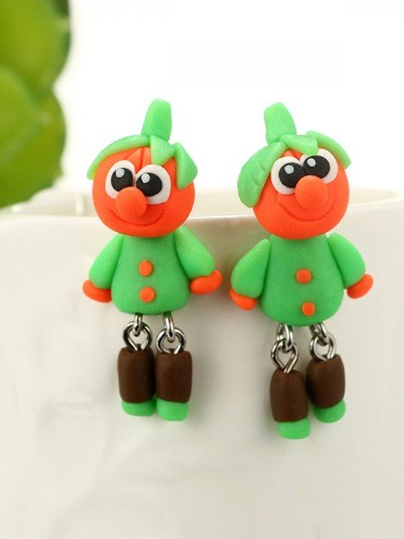 Halloween Glamorous Polymer Clay Earrings