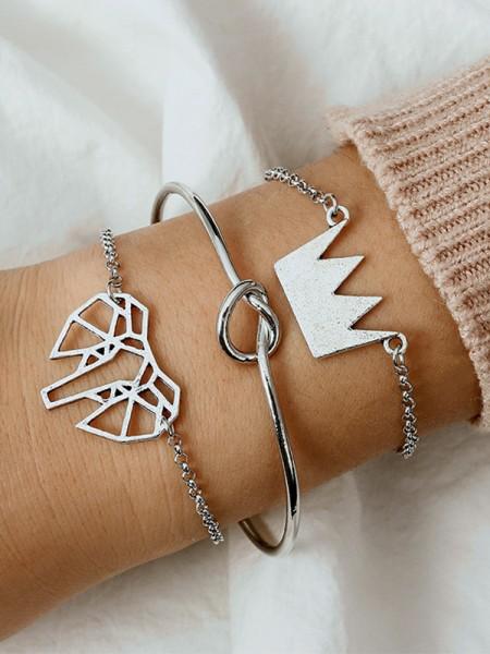Bright Alloy Hot Sale Bracelets(3 Pieces)