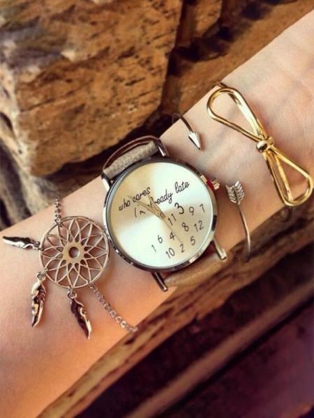 Fashion Alloy Bracelets(3 Pieces)