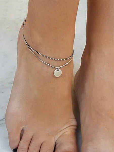 Simple Alloy Hot Sale Anklets