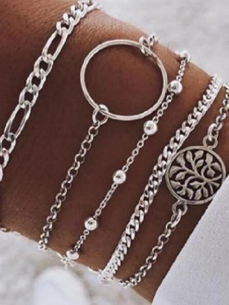 Fashion Alloy Hot Sale Bracelets(5 Pieces)