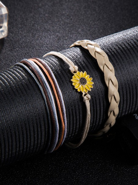 Charming Alloy With Daisy Bracelets/Anklets(3 Pieces)