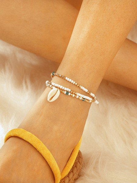 Lovely Shell Alloy Anklets