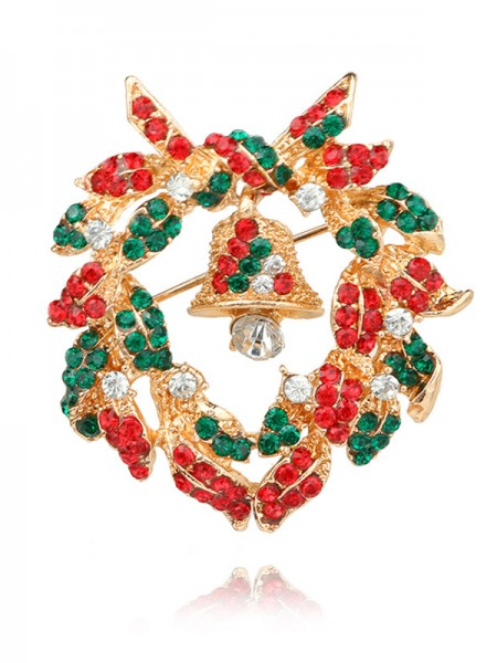 Christmas Excellent Bell Alloy Brooches
