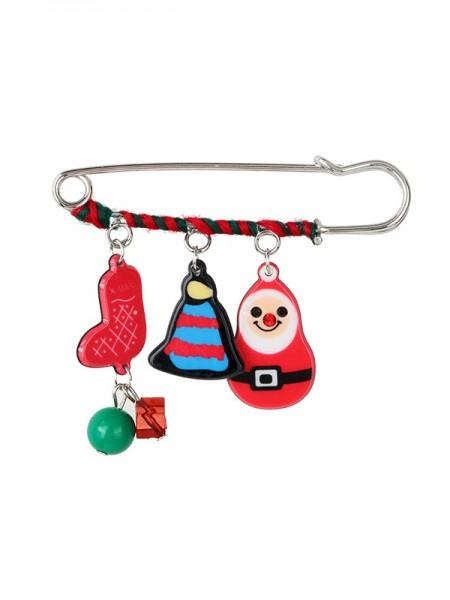Christmas Pretty Santa Claus Alloy Brooches