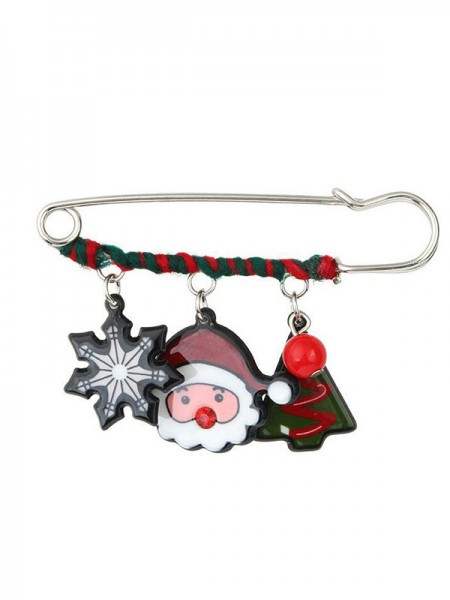 Christmas Lovely Santa Claus Alloy Brooches