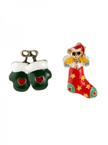 Christmas Unique Bear Alloy Brooches(2 Pieces)
