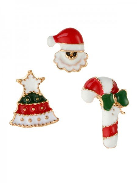 Christmas Elegant Santa Claus Alloy Brooches(3 Pieces)