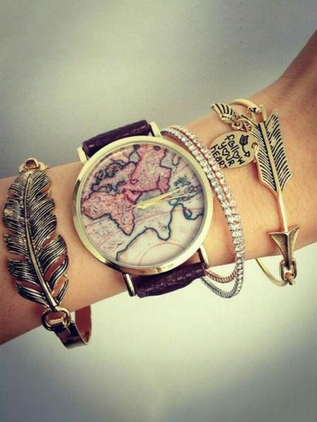 Elegant Alloy With Leaf Bracelets(4 Pieces)