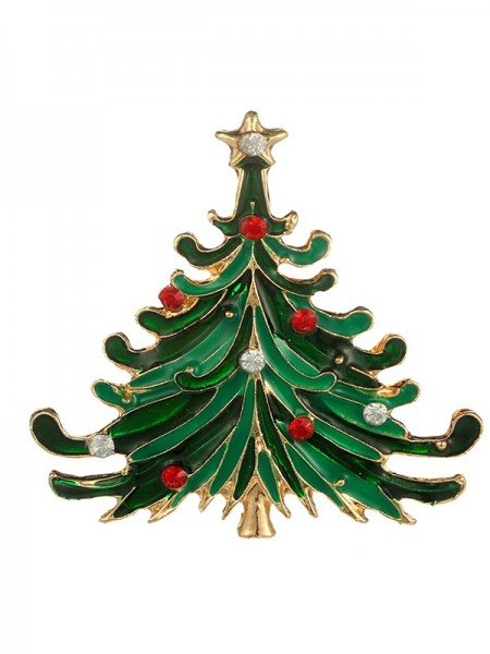 Christmas Fashion Tree Alloy Brooches