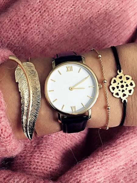 Splendid Alloy With Flower Bracelets(3 Pieces)