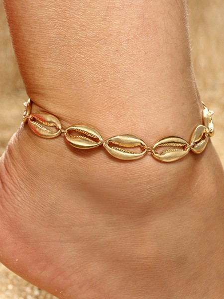 Chic Alloy With Shell Hot Sale Anklets