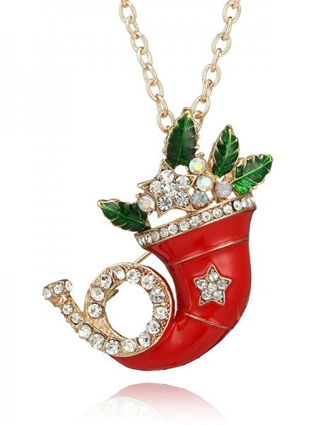 Christmas Elegant Alloy Necklaces