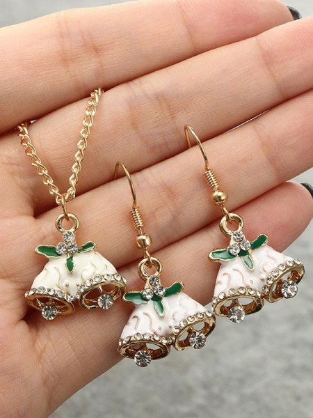 Christmas Nice Bell Alloy Jewelry Set