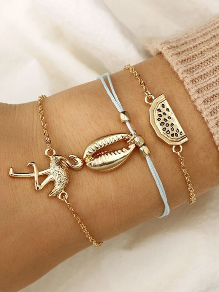 Pretty Alloy With Swan Bracelets(3 Pieces)