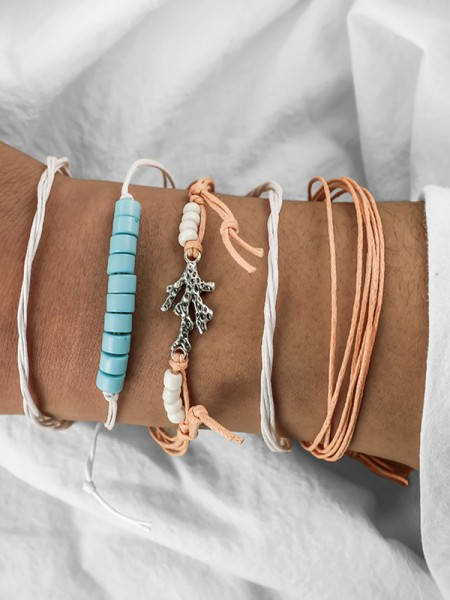 Particular Alloy With Fish Bracelets(4 Pieces)