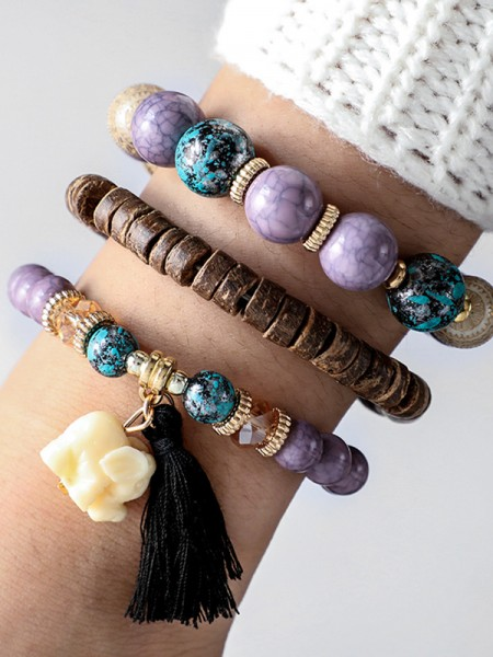 Perfect Alloy With Elephant Bracelets(3 Pieces)