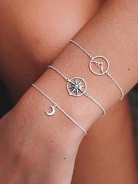 Fashion Alloy With Rhinestone Bracelets(3 Pieces)