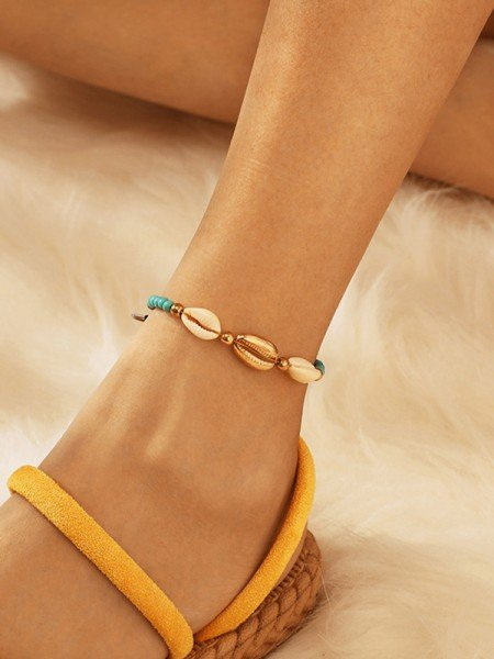 Fancy Alloy With Shell Hot Sale Anklets