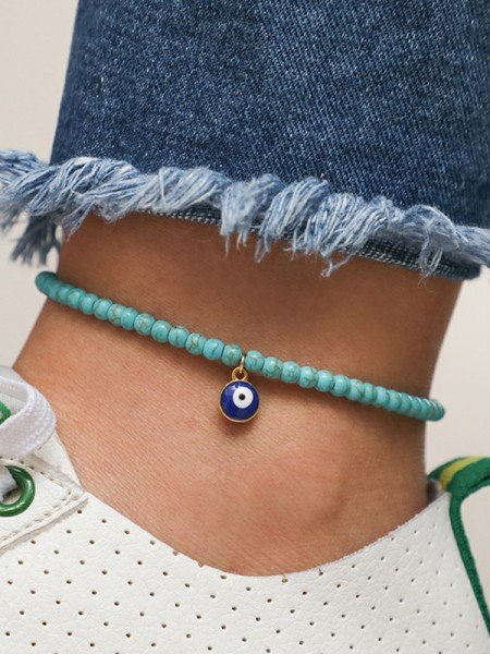 Amazing Alloy With Beads Hot Sale Anklets